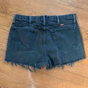 Vintage Rustler high waisted black denim shorts